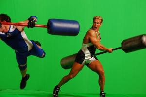 American Gladiators Green Screen Photoshoot With Fitness Guru Mike O'Hearn