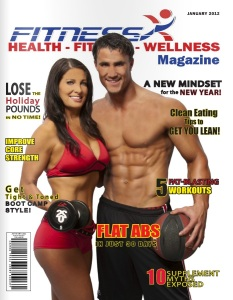 Katie Quinn Tans For FitnessX Magazine Cover