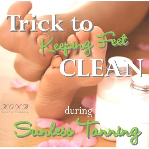 How To Keep The Bottoms Of Your Feet Clean When Spray Tanning
