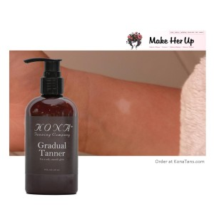 MakeHerUp.com Reviews Kona Tanning Company's Sunless Products