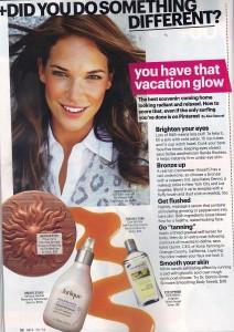 Kona Tanning Mention In SELF Magazine - Jillian Michaels - Contouring