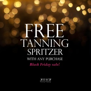 Black Friday Sale: FREE Tanning Spritzer With Any Purchase
