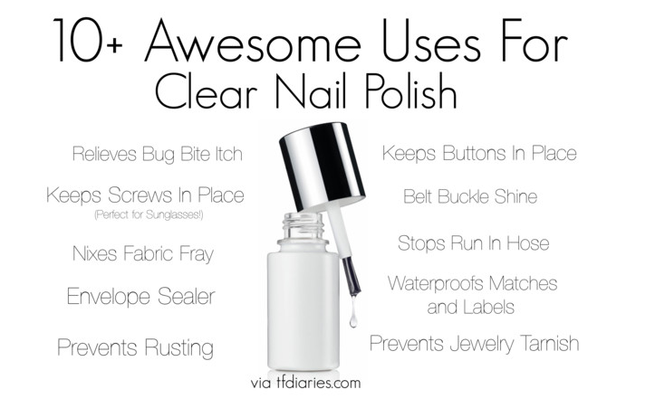 Genius Fashion, Glamour, and DIY Uses For Clear Nail Polish