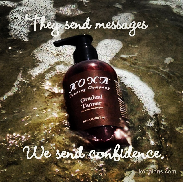 Were Sending A Message In A Bottle...  |  KonaTans.com #spraytan #tan #tanning #selftan #bronze #bronzer #makeup
