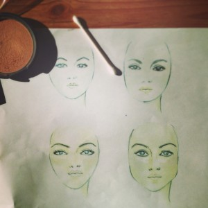 Contouring & Bronzing Face Charts for New Kona Tanning Program Launch