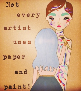 Not Every Artist Uses Paper and Paint!