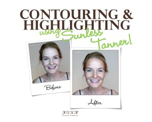 Contouring and HIGHLIGHTING Using Only Sunless Tanner & Water!