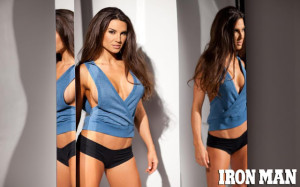 Glammed up and Kona Tanned Fitness Model Featured in Iron Man Magazine