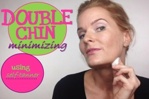 VIDEO:  How To Minimize DOUBLE CHINS Using Self-Tanner