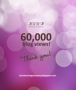 Record Blog Views at Kona Tanning's Beauty Blog