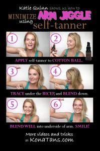 Step-by-step: Minimize and Contour Arm Jiggle Using Self-Tanner! #makeupartist #contouring #selftan #beautytips | KonaTans.com