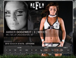LFL Gains Football Player With A Glow: Amber Elizabeth