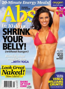 Fitness Model Amber Elizabeth Dodzweit Kona Tanned for Oxygen Magazine Abs Training for Women Collector's Issue