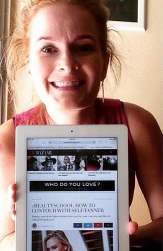 Harper's Bazaar Features Katie Quinn's Insider Self-Tanning Contouring Tips  |  KonaTans.com