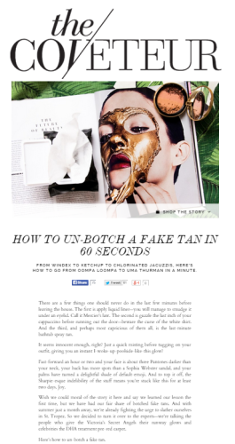The Coveteur Interviews Katie Quinn on How to Un-Botch a Fake Tan | KonaTans.com