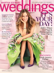Katie's Bridal Sunless Tanning Tips in Martha Stewart Weddings  |  With Sarah Jessica Parker