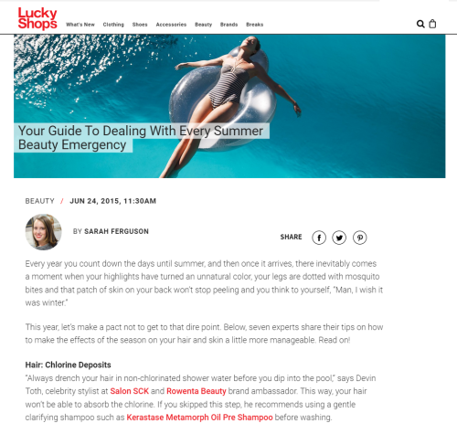 Katie Quinn's Spray Tan Fix-It Tips Featured in Lucky