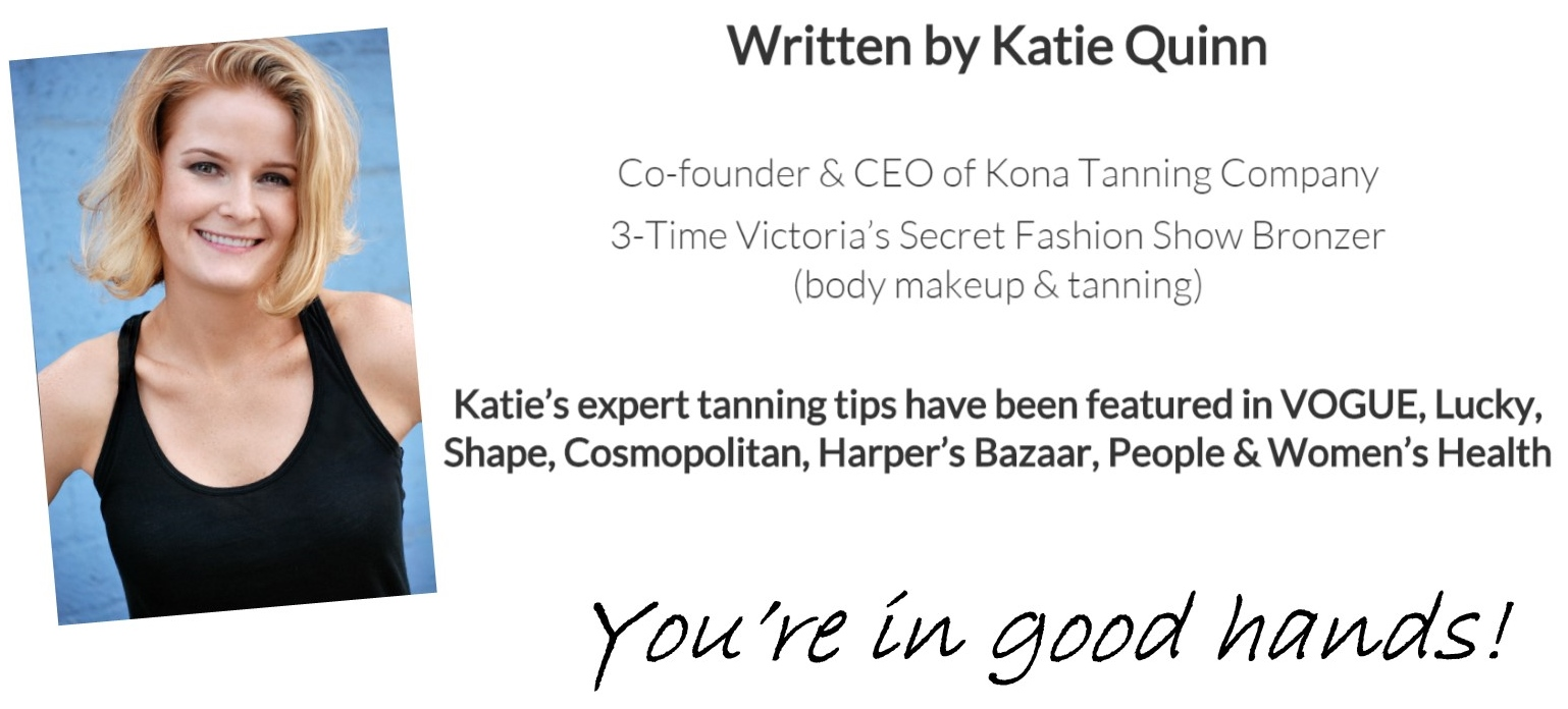 Airbrush Contouring for Spray Tanning - Written by Katie Quinn  Co-Founder & CEO of Kona Tanning Company