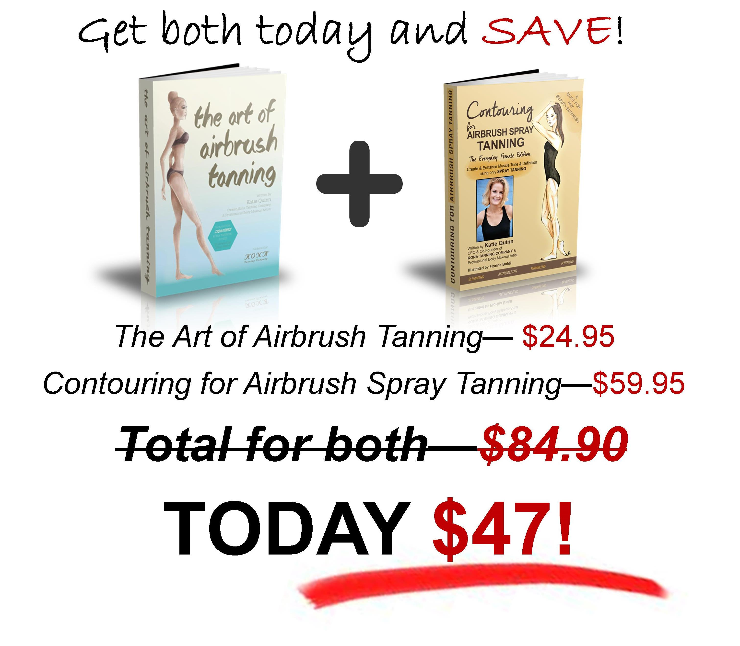 Katie Quinn's Book Set:  Save on The Art of Airbrush Tanning & Contouring for Airbrush Spray Tanning Today at www.AirbrushAbs.com!